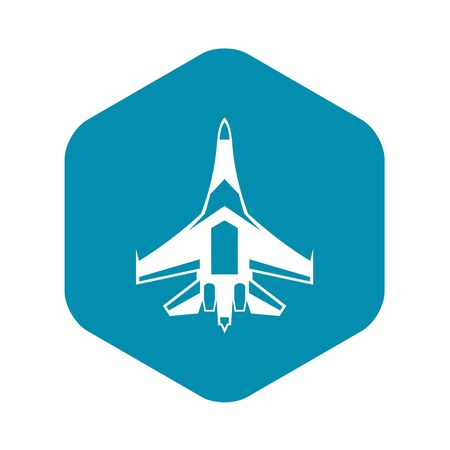 Jet fighter plane icon. Simple illustration of jet fighter plane vector icon for web