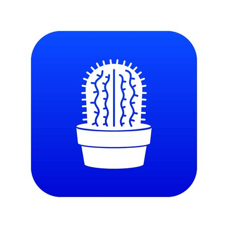 Echinocereus icon blue vector
