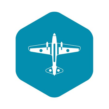Military aircraft icon. Simple illustration of military aircraft vector icon for web