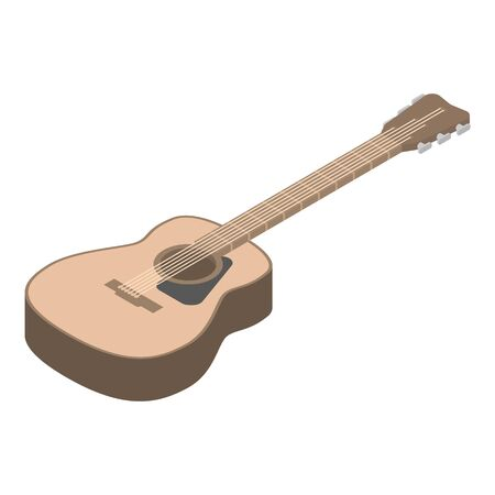 Guitar icon. Isometric of guitar vector icon for web design isolated on white background