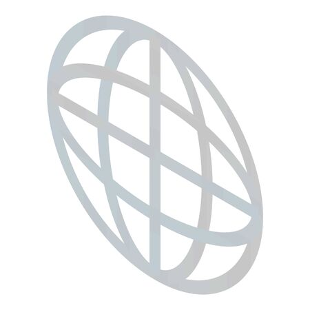 Globe sign icon, isometric style