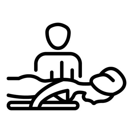 Spa saloon massage icon, outline style