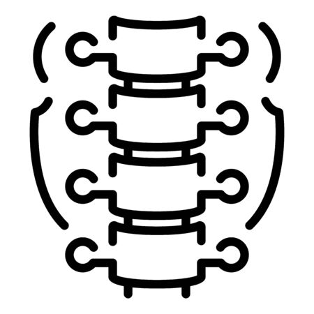 Part of human spine icon, outline style