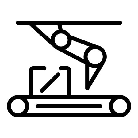 Assembly line icon, outline style