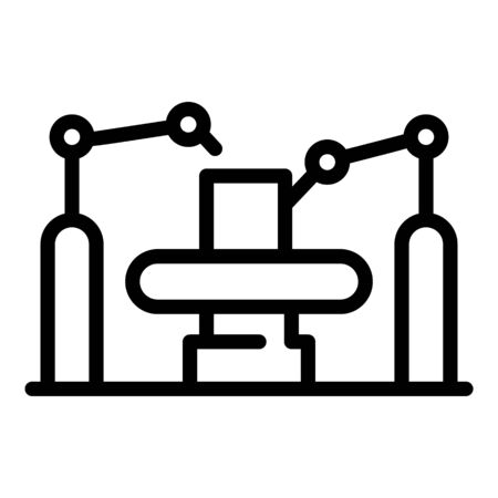 Industry assembly line icon. Outline industry assembly line vector icon for web design isolated on white background