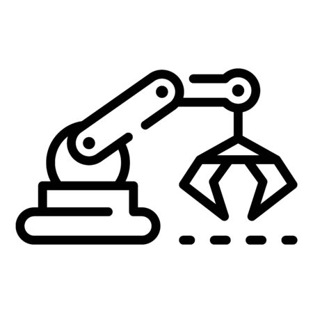 Assembly robot hand icon, outline style