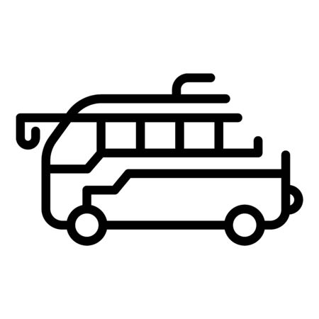 Tourist bus icon. Outline tourist bus vector icon for web design isolated on white background