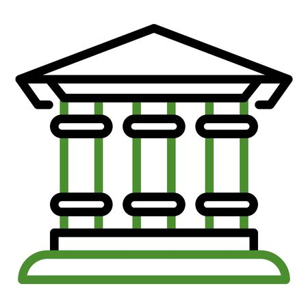 Bank building icon, outline style
