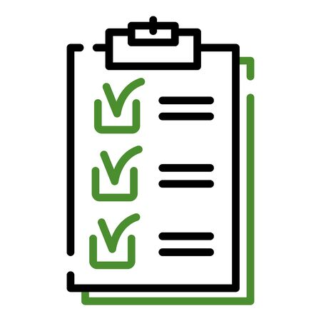 Checklist icon. Outline checklist vector icon for web design isolated on white background 向量圖像