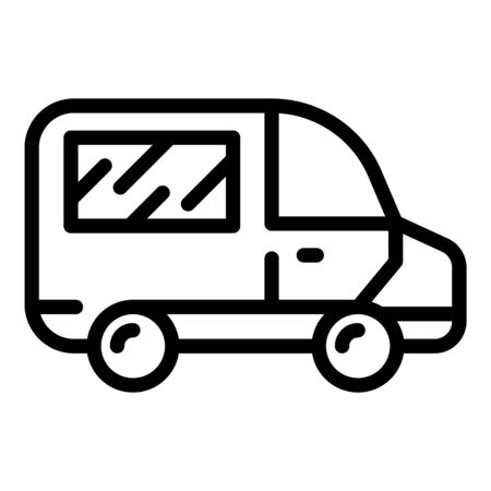 Ambulance icon, outline style 矢量图像