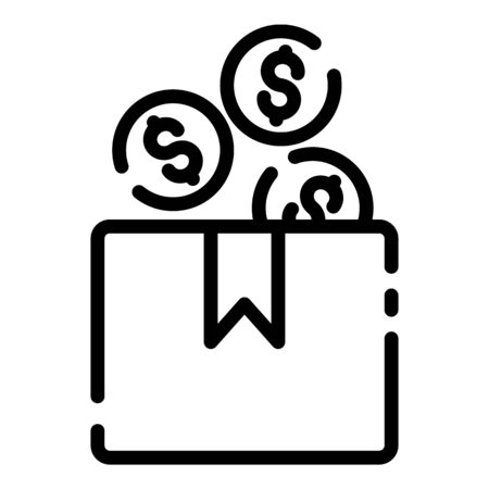 Crowdfunding budget icon, outline style