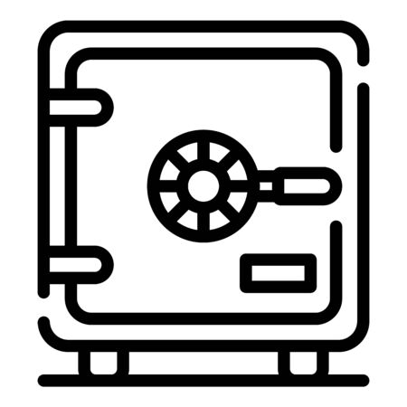 Metal safe icon, outline style