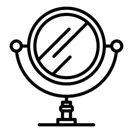 Retro mirror icon, outline style