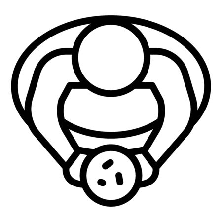 Man overweight top view icon, outline style