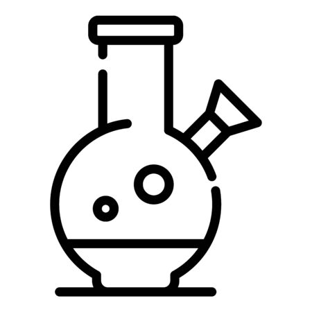 Addiction drug flask icon, outline style Illustration