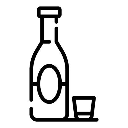 Alcohol addiction icon. Outline alcohol addiction vector icon for web design isolated on white background Ilustração