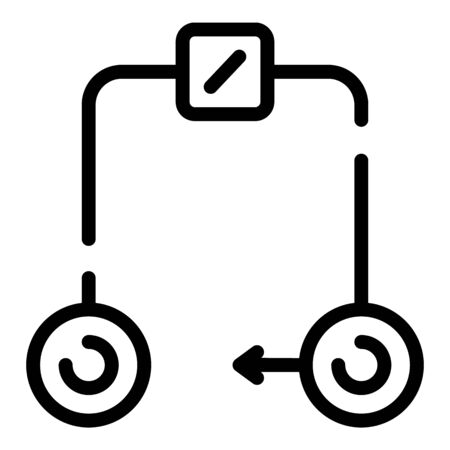 Electrical circuit icon, outline style