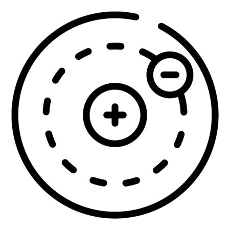 Electron charge icon, outline style Banque d'images - 127010895