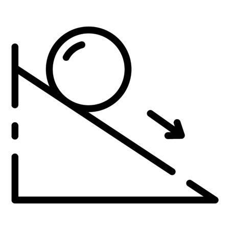 Icono de fuerza de fricción. Esquema de la fuerza de fricción icono vectoriales para diseño web aislado sobre fondo blanco.