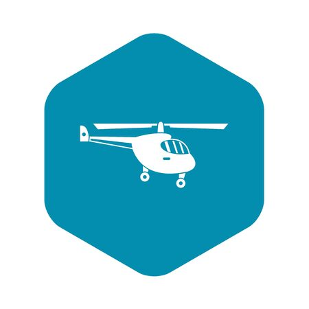 Helicopter icon. Simple illustration of helicopter vector icon for web Çizim