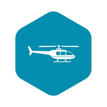 Military helicopter icon. Simple illustration of military helicopter vector icon for web
