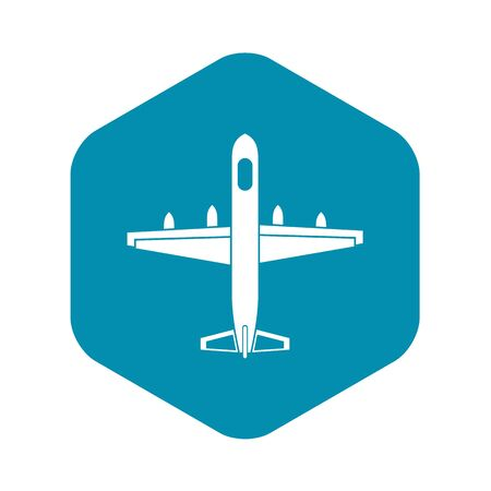 Military plane icon. Simple illustration of plane vector icon for web