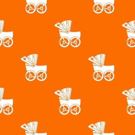 Baby carriage big pattern vector orange for any web design best Ilustración de vector
