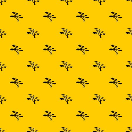 Cedar pattern seamless vector repeat geometric yellow for any design