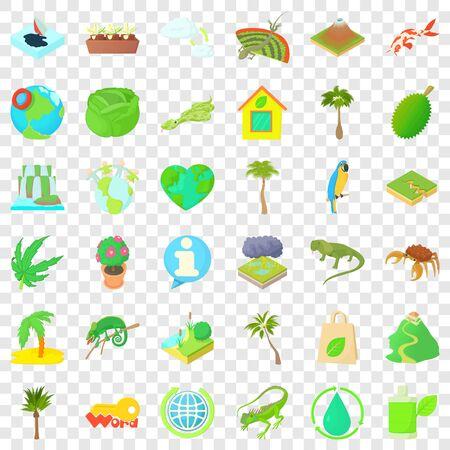 Drop icons set, cartoon style Banco de Imagens - 127010910