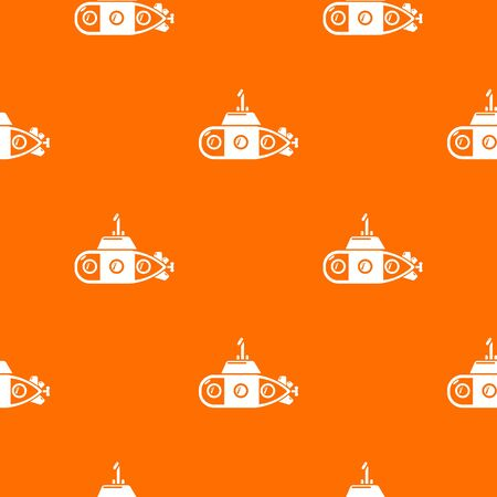 Submarine transportation pattern vector orange for any web design best