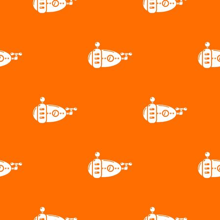 Submarine navy pattern vector orange for any web design best Illustration
