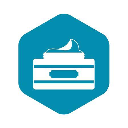 Cream container icon. Simple illustration of cream container vector icon for web