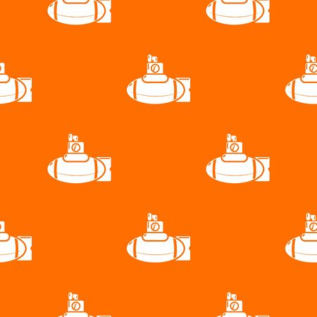 Submarine ship pattern vector orange for any web design best Illustration