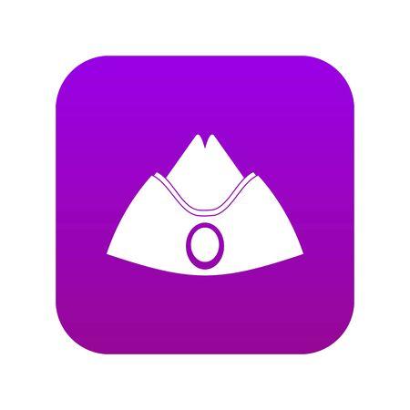 Forage cap icon digital purple