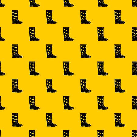 Rubber boots pattern seamless vector repeat geometric yellow for any design