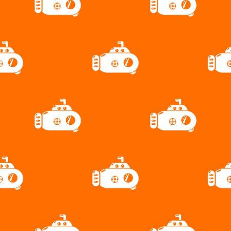 Submarine transport pattern vector orange for any web design best
