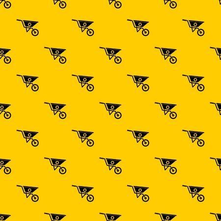 Wheelbarrow pattern seamless vector repeat geometric yellow for any design