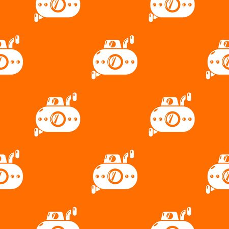 Submarine fun pattern vector orange for any web design best