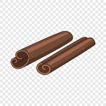 Cinnamon sticks icon, cartoon style Illustration