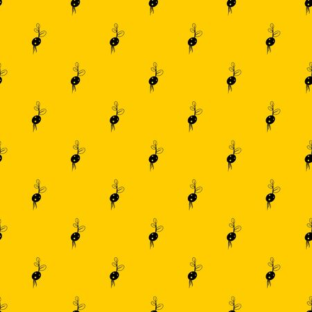 Potato sprout from the root pattern seamless vector repeat geometric yellow for any design