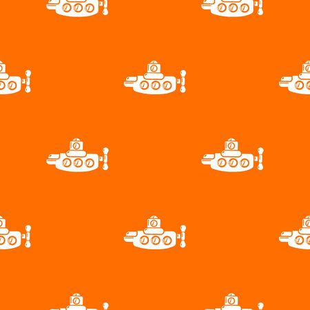 Submarine nautical pattern vector orange for any web design best