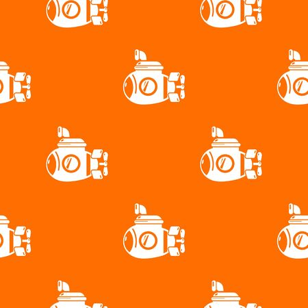 Submarine ocean pattern vector orange for any web design best