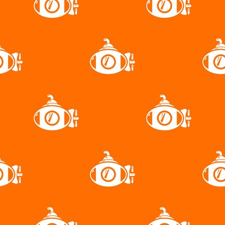 Submarine pattern vector orange for any web design best