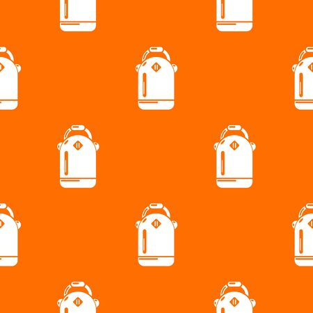 Backpack schoolgirl pattern vector orange for any web design best