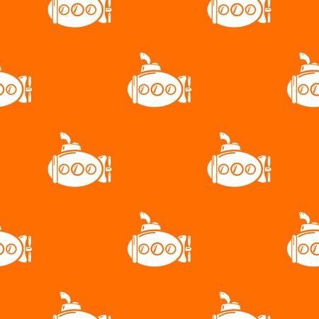 Submarine funny pattern vector orange for any web design best