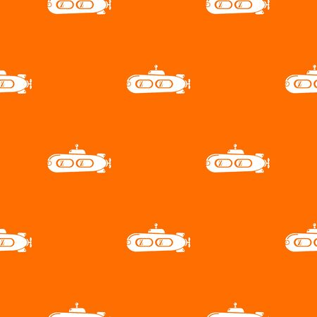 Submarine retro pattern vector orange for any web design best