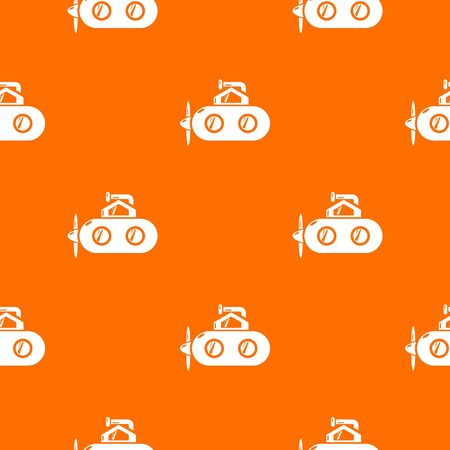 Submarine periscope pattern vector orange for any web design best Illustration
