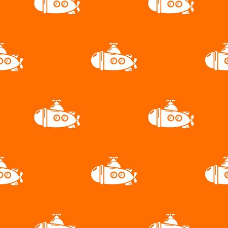 Submarine sea pattern vector orange for any web design best