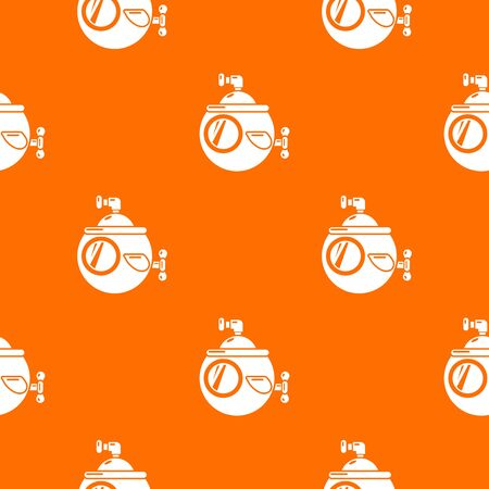 Submarine travel pattern vector orange for any web design best