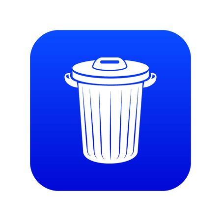 Bucket icon, simple style Illustration